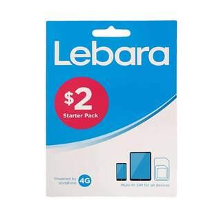 Lebara $2 Prepaid Sim Card Starter Kit Pack