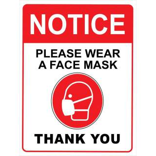 Social Distancing Vinyl Entrance Door Window Wall Marking Sign Sticker Decal - Please Wear A Face Mask