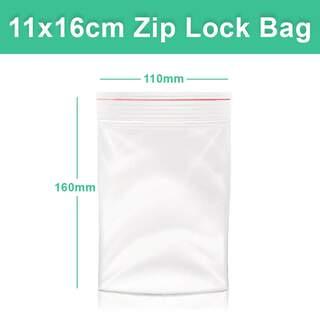 Resealable Zip Lock Clear Plastic Bag - 11x16 cm 110x160mm