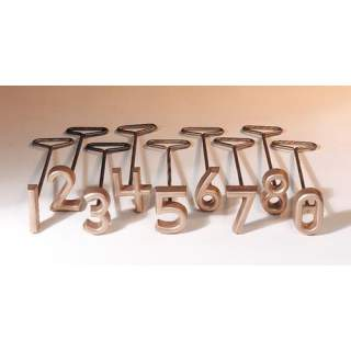 "Freeze Brand Numerals Set 0-9 Livestock Number Branding Irons 1"" 1.5"" 2"" 2.5"" 3"" 4"""