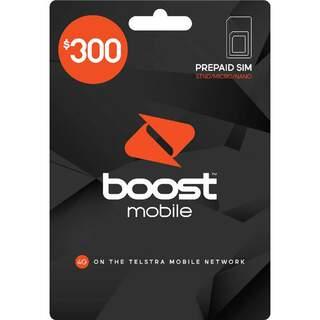 Boost Mobile $300 Prepaid SIM Card Starter Kit Pack - Long Term Plan - 12 Months Expiry