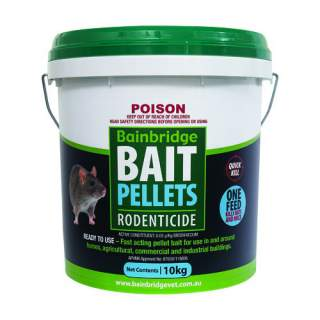 Bainbridge Rat Mouse Rodent Poison Bait Pellets