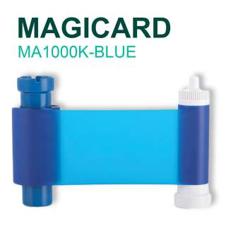 Magicard MA1000K-BLUE 1000 Print Blue Ribbon for Pronto Enduro MC200 Rio Pro