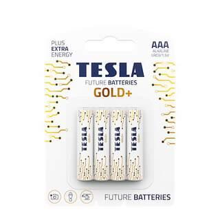 Tesla Future Gold+ AAA Alkaline Heavy Duty Batteries - 4 Pack