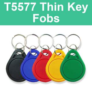 T5577 125KHz Writable Thin Key Tag Fob