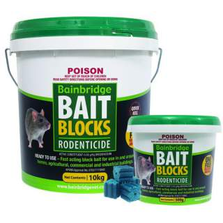 Bainbridge Rat Mouse Rodent Poison Bait Blocks