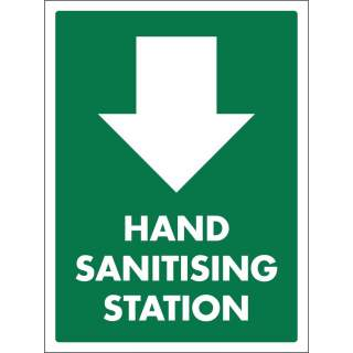 Social Distancing Vinyl Wall Door Stand Window Marking Sign Sticker - Hand Sanitising Station
