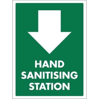 Social Distancing Vinyl Wall Door Stand Window Marking Sign Sticker - Hand Sanitising Station