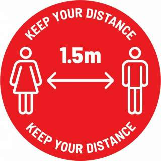 Social Distancing Floor or Carpet Sticker Indoor or Outdoor Marking Sign Decal - Keep Your Distance