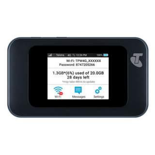 Telstra Prepaid 4G 4GX Wifi Hotspot Modem with Antenna Ports (MF985T)