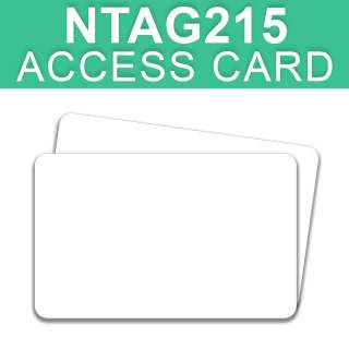 NTAG215 NFC Thin White Access Card