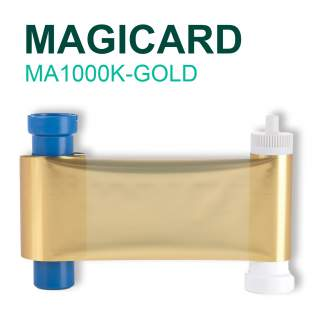 Magicard MA1000K-GOLD 1000 Print Gold Ribbon for Pronto Enduro MC200 Rio Pro