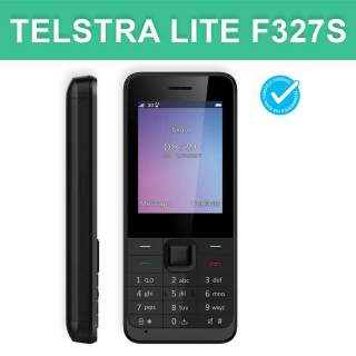 Telstra Lite F327S ZTE 3G Seniors Push Button Blue Tick Mobile Phone