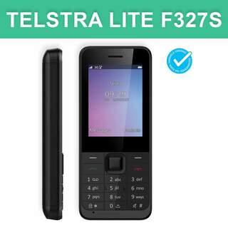 Telstra Lite F327S ZTE 3G Seniors Push Button Blue Tick Mobile Phone