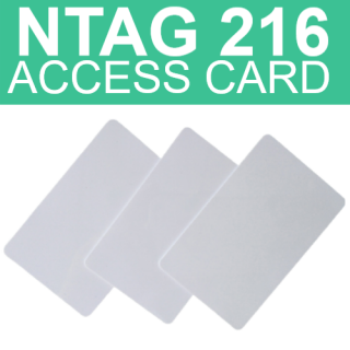 NTAG216 NFC Thin White Access Card - 888 Bytes Memory