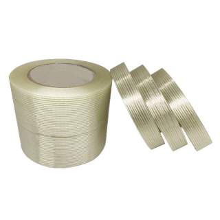 Filament Tape Cross Weave Fibre Grid Extra Strong 50m Roll - Multiple Sizes