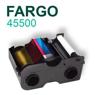 Fargo 45500 YMCKO 250 Print Colour Ribbon for DTC1000 DTC1250e