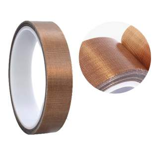 Teflon PTFE High Temperature Woven Fabric Heat Sealer Adhesive Tape 10mm / 13mm x 10m