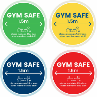 Social Distancing Vinyl Indoor Floor Marking Sign Sticker Decal - Gym Safe Maintain Distance