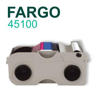 Fargo 45100 YMCKO 250 Print Colour Ribbon 045100 for DTC4000 DTC4250e