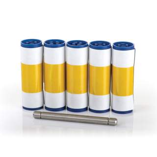 Magicard Cleaning Roller Kit ID Card Printer Cleaning Kit - 5 Sleeves, 1 Roller Bar