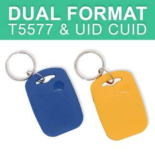 Dual Format Frequency T5577 & UID CUID Block 0 Changeable Key Tag Fob