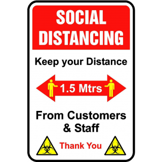 Social Distancing Vinyl Door Wall Marking Sign Sticker - Keep Your Distance