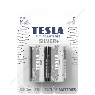 Tesla Future Silver+ C Alkaline Heavy Duty Batteries - Twin Pack