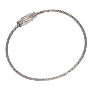 Jumbo Key Ring 100mm 300mm Cable Stainless Steel Giant Keychain Wire