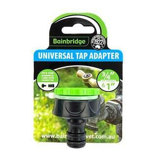 Bainbridge Universal Plastic Tap Adapter Fits 12MM Garden Hose Connector