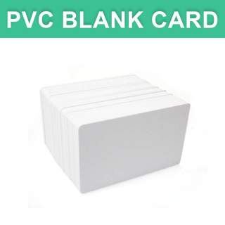 Plastic PVC Blank White Economy Card