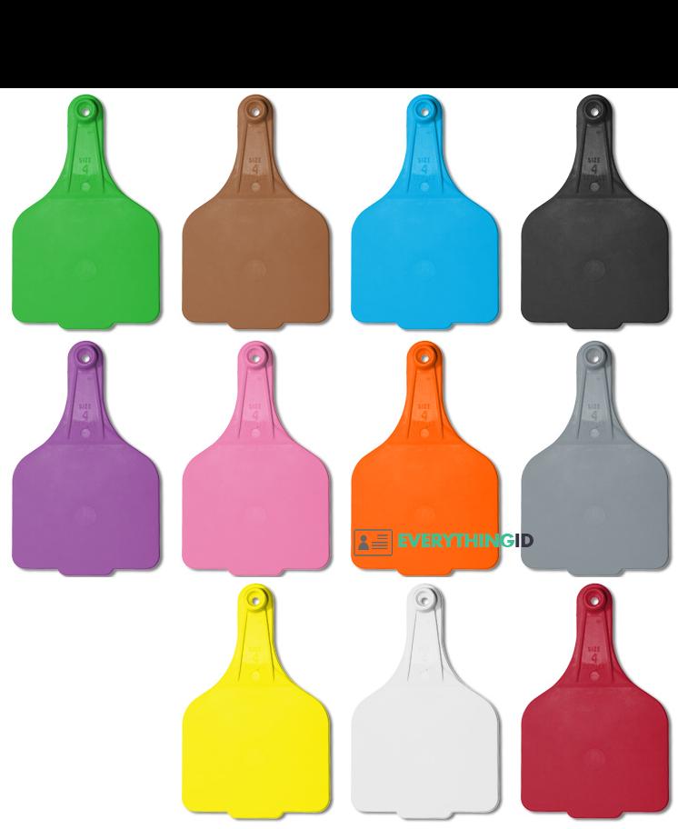 Leader Super Maxi Foil Cattle Ear Tag Colours