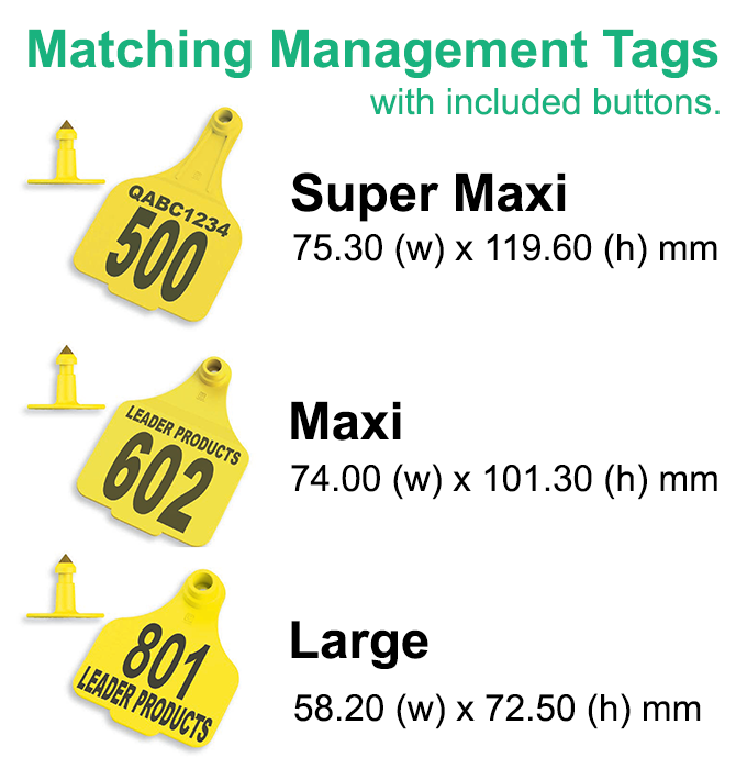 Leader Enviro Matching Management Tags